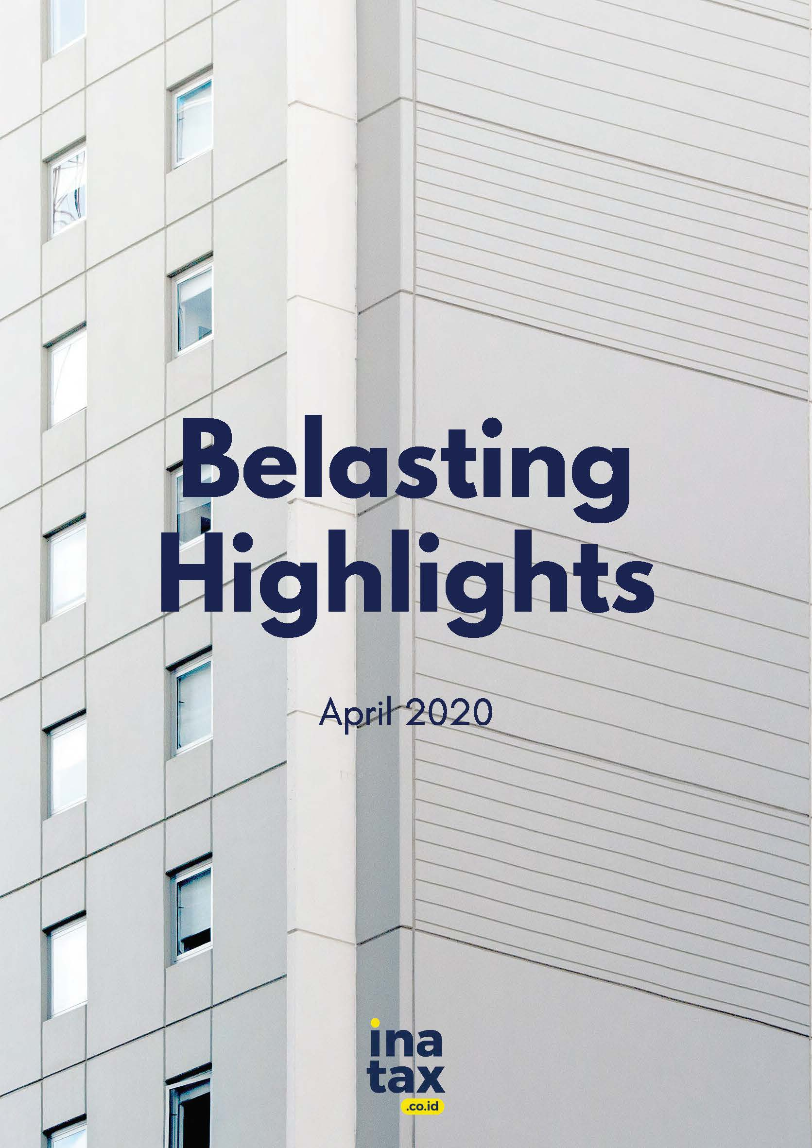 Belasting Highlight Edisi April 2020